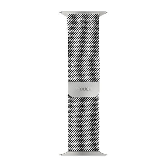 Itouch Sport Mens Silver Tone Watch Band-Itspstrste-004