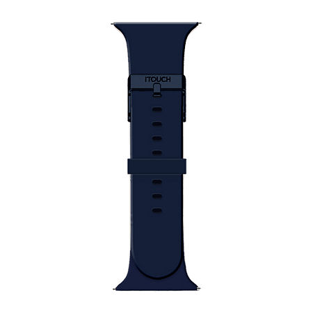 Itouch Air Se/Air 2 Mens Blue Watch Band-Ita2sestrrub-007, One Size , No Color Family