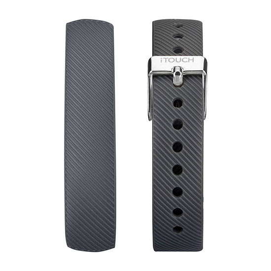 Itouch Slim Mens Gray Watch Band-Itaslimstrap-334