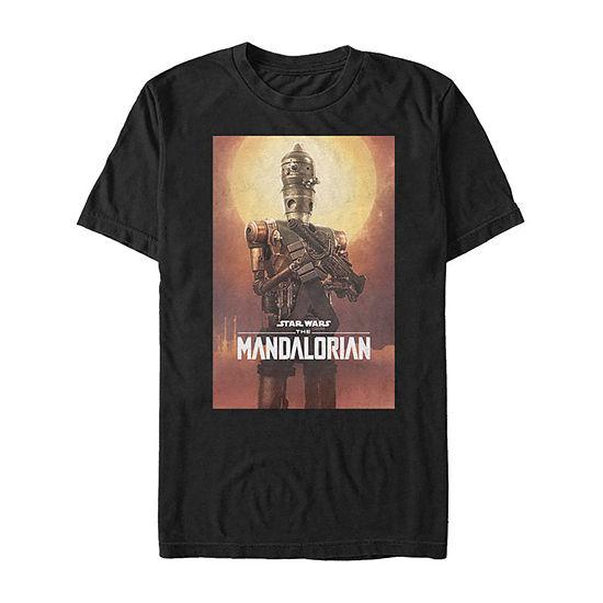 Star Wars The Mandalorian Ig-11 Character Poster Mens Crew Neck Short Sleeve Star Wars T-Shirt