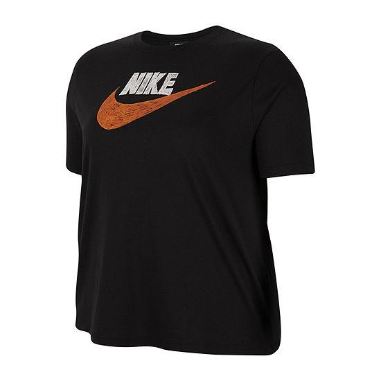 Nike Womens Crew Neck Short Sleeve T-Shirt Plus