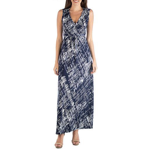 24/7 Comfort Apparel Geometric Maxi Dress