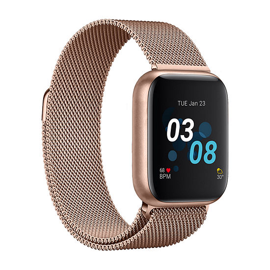 iTouch Air 3 for Women: Rose Gold Case with Rose Gold Mesh Strap Smartwatch (40mm) 500011R-0-51-C29