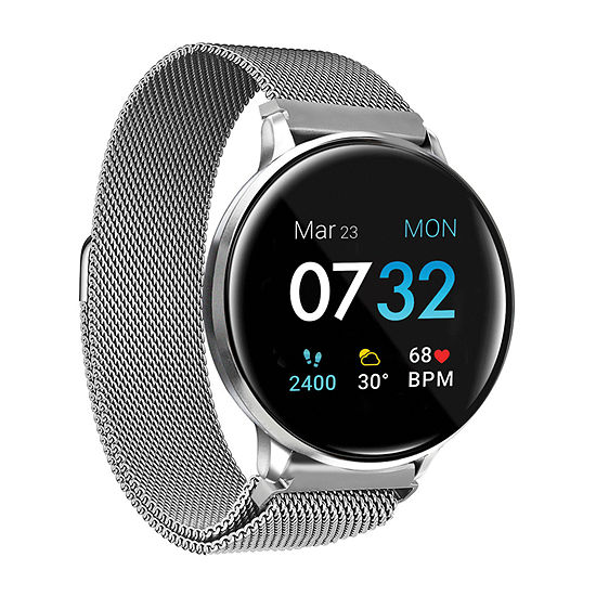 Itouch Sport 2 Unisex Adult Silver Tone Stainless Steel Smart Watch-500014s-51-B28