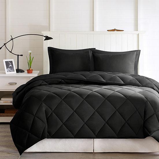 Madison Park Essentials Larkspur Microfiber Reversible Down Alternative Comforter Set