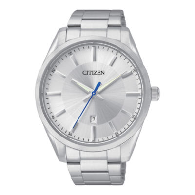 Citizen® Mens Silver-Tone Dial Stainless Steel Watch BI1030-53A