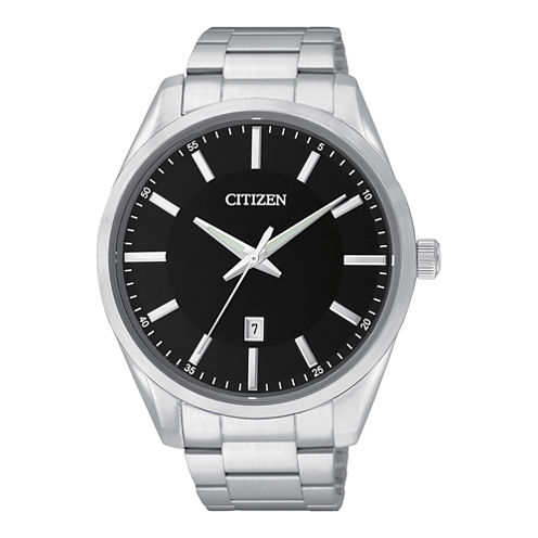 Citizen® Mens Black Dial Stainless Steel Watch BI1030-53E