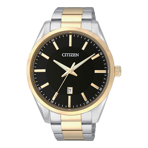 Citizen® Mens Two-Tone Stainless Steel Watch BI1034-52E