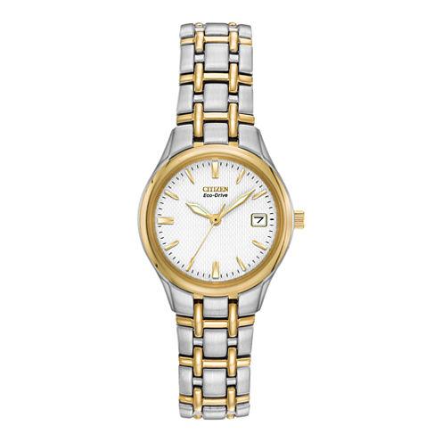 Citizen® Eco-Drive® Womens Two-Tone Watch EW1264-50A