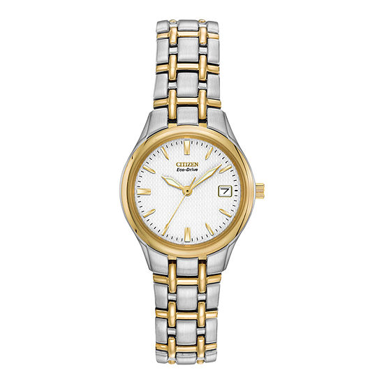 Citizen Corso Womens Two Tone Stainless Steel Bracelet Watch-Ew1264-50a