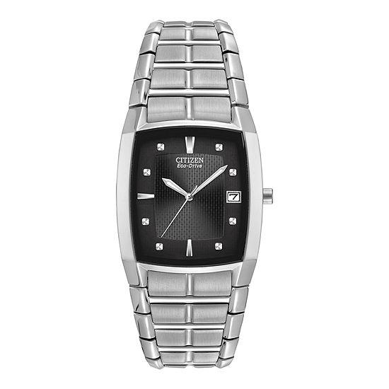 Citizen Paradigm Mens Silver Tone Bracelet Watch-Bm6550-58e