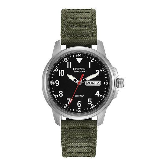 Citizen Military Mens Green Strap Watch-Bm8180-03e