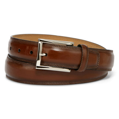 Stafford® Feather-Edge Dress Men's Belt with Stitch
