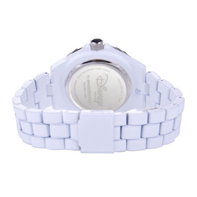 Disney Frozen Womens Crystal-Accent White Bracelet Watch