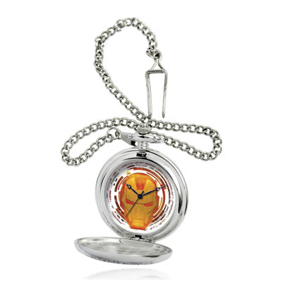 Marvel® Iron Man Mens Silver-Tone Pocket Watch
