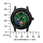 Marvel® Hulk Mens Black Stainless Steel Watch