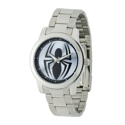 Marvel® Black Spider Mens Stainless Steel Watch