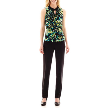 jcpenney.com   Worthington® Ruched Keyhole Halter-Neck Top or Wide-Waistband Pants