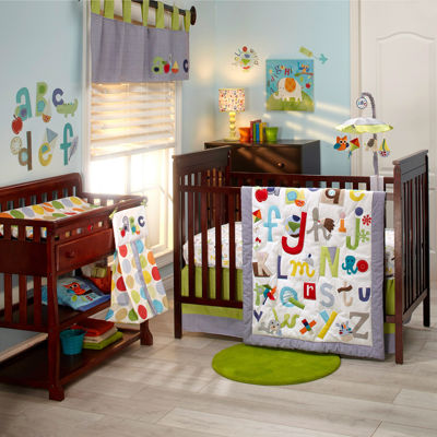 NoJo® by Jill McDonald ABC with Me 4-pc. Crib Bedding Set