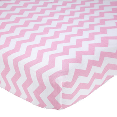 NoJo® Little Love Chevron Crib Sheet