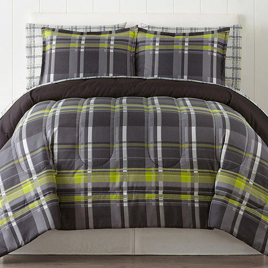 Home Expressions Harley Plaid Complete Bedding Set With Sheets