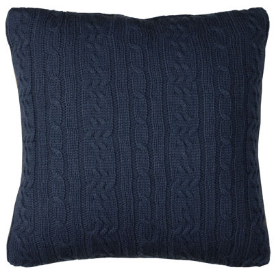 IZOD® Brisbane Cable-Knit Square Decorative Pillow