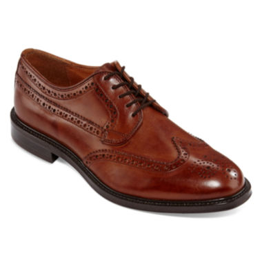 Stafford® Logan Mens Wingtip Oxfords