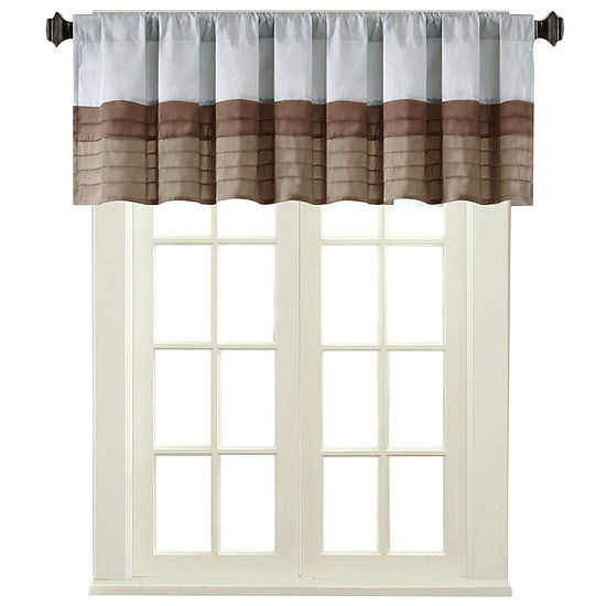 Tradewinds Polyoni Pintuck-Striped Rod-Pocket Valance