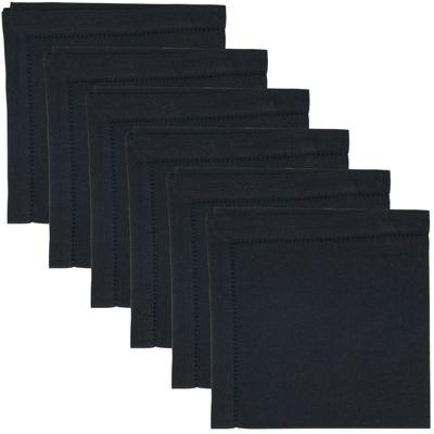 Hemstitch Set of 6 Cotton Napkins