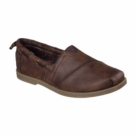 Skechers Bobs Womens Chill Luxe Buttoned Up Slip-On Shoe Closed Toe