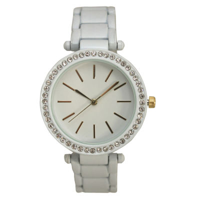 Olivia Pratt Womens White Bracelet Watch-14202