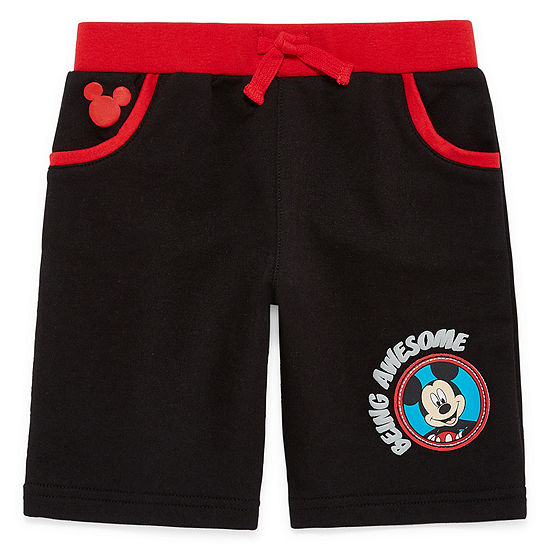 Disney by Okie Dokie Boys Mid Rise Mickey Mouse Pull-On Short Preschool