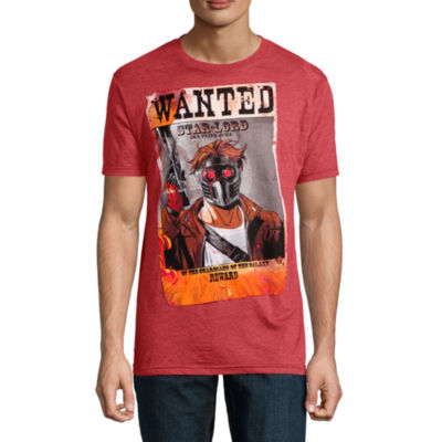 Star Lord Wanted Marvel Graphic Tee