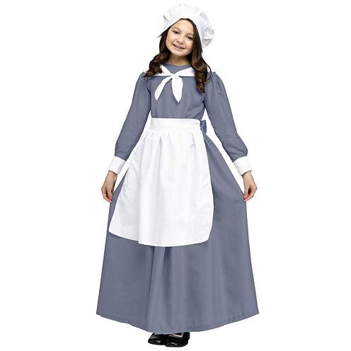 Pilgrim Girl Costume For Kids