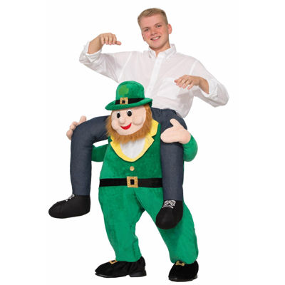 Ride a St. Patrick's Day Leprechaun Adult Costume - One Size Fits Most