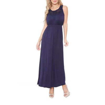 White Mark Katherine Sleeveless Maxi Dress