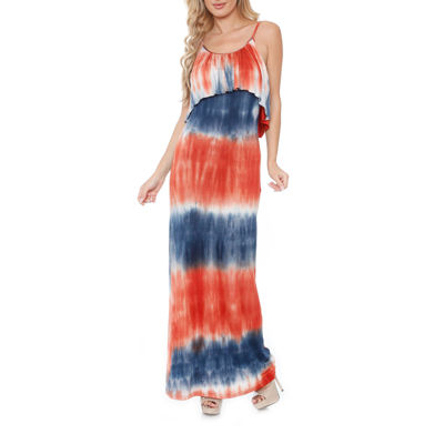 White Mark Kalea Sleeveless Tie Dye Maxi Dress