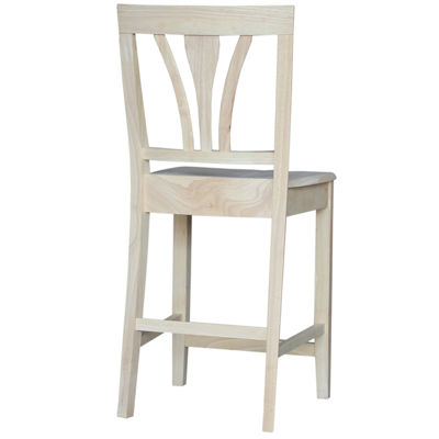 Fanback Counter Height Bar Stool