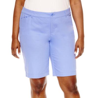 "St. John's Bay® Bermuda Shorts-Plus (11.5"")"