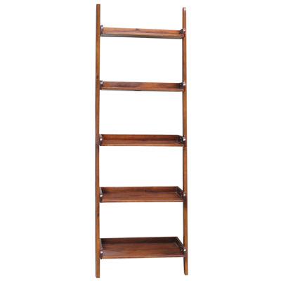 Leaning 5-Shelf Bookshelf