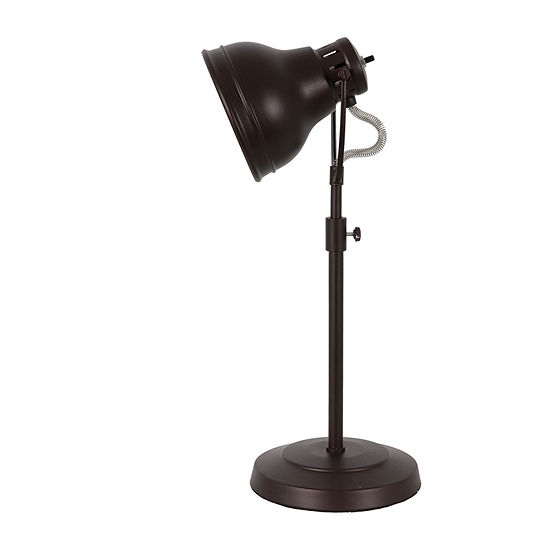 Decor Therapy Bronze Desk Task With Adjustable Shade Steel Table Lamp