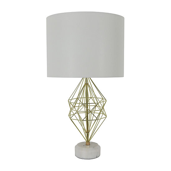 Decor Therapy Geordi Marble Metal Table Lamp
