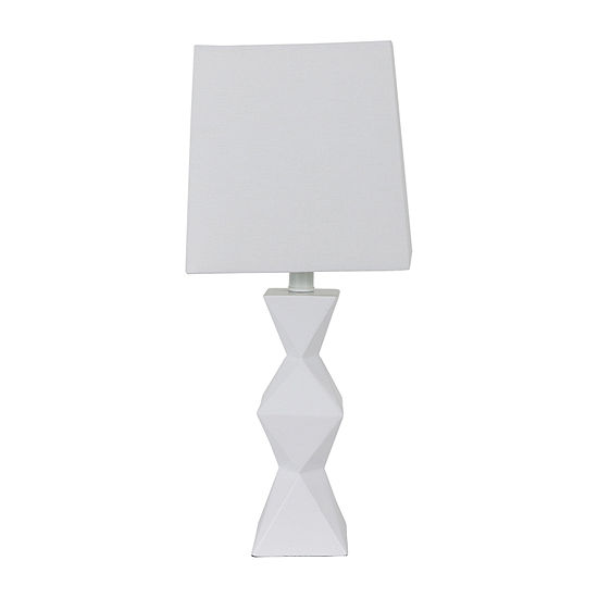 Decor Therapy Knox Stacked Diamond Polyresin Table Lamp