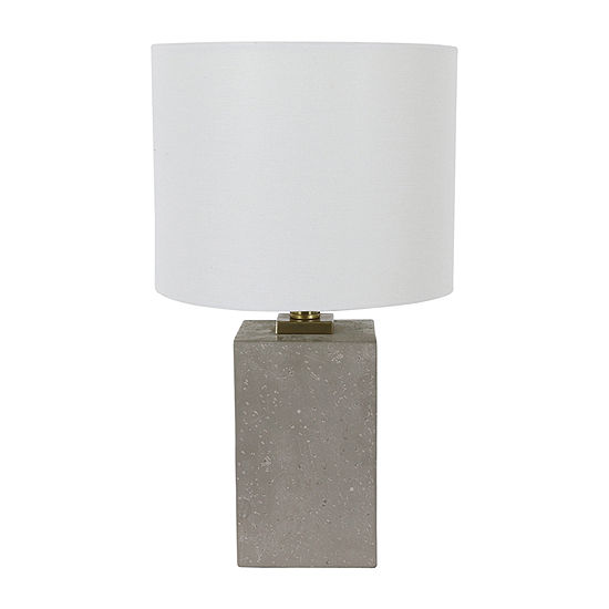 Decor Therapy Rance Concrete Polyresin Table Lamp