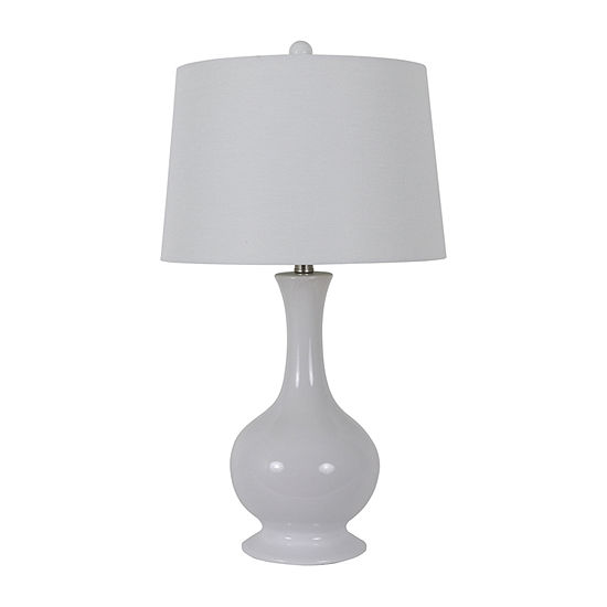 Decor Therapy Traverse Fluted Ceramic Table Lamp