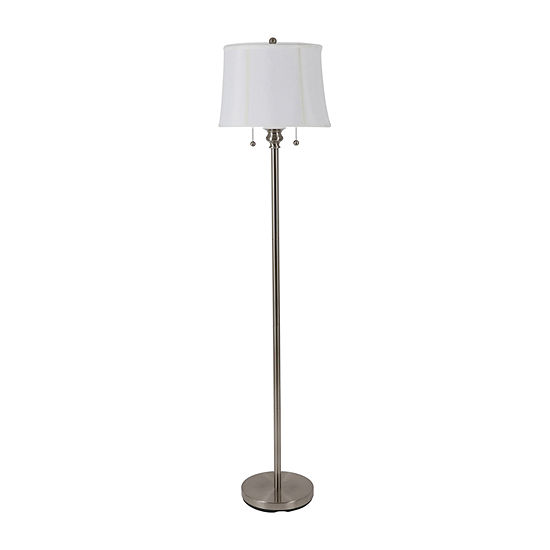 Decor Therapy Steel Twin Pull Metal Table Lamp
