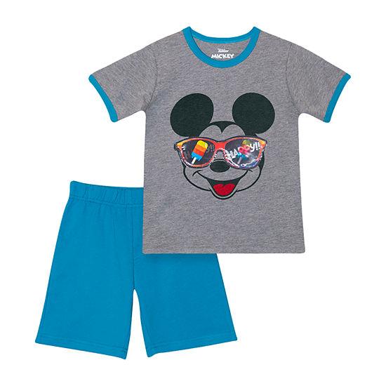 Disney Lenticular Toddler Boys 2-pc. Mickey Mouse Short Set