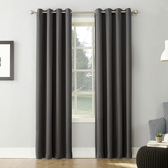 Sun Zero Saxon Grommet-Top Blackout Curtain Panel