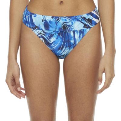 Peyton & Parker Family Swim Womens Tie Dye Hipster Bikini Swimsuit Bottom