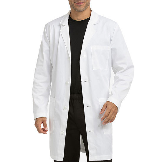 Med Couture Mens Long Sleeve Lab Coat-Tall